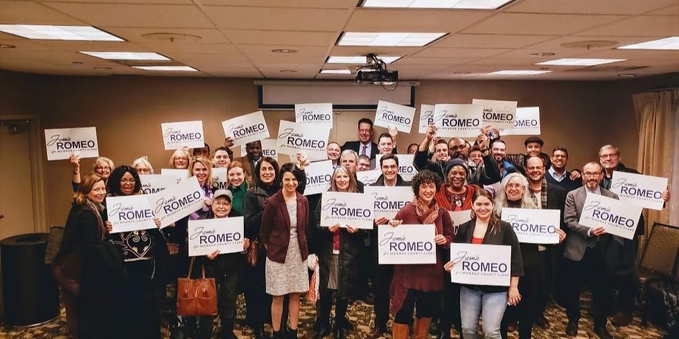 Virtual GOTV Kick Off to Keep Jamie Romeo Our County Clerk!