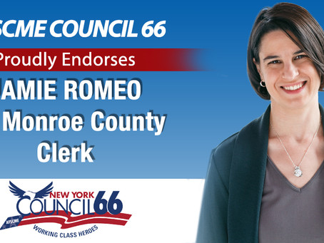 AFSCME Council 66 Endorses Jamie Romeo for Monroe County Clerk