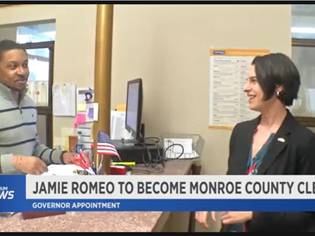 Spectrum News: Assembly Member Jamie Romeo Appointed to Monroe County Clerk Seat