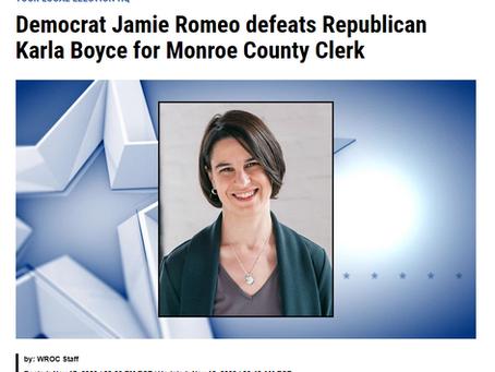 Democrat Jamie Romeo defeats Republican Karla Boyce for Monroe County Clerk