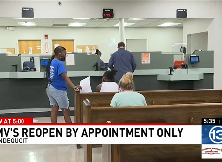 WHAM13: DMV offices reopen with new safety measures in place