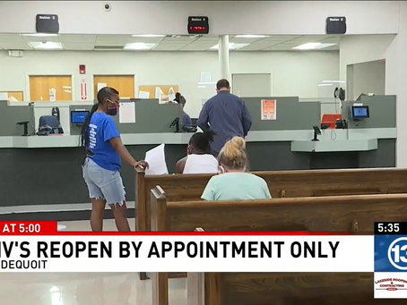 MCCO Update: DMV, Passport and Pistol Saturday To Open, by Appointment Only