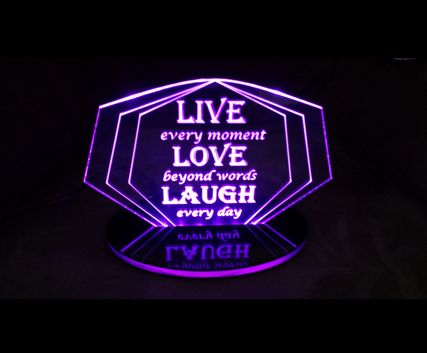 LED Love Life purple