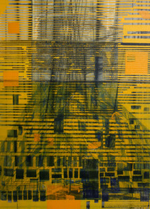 Untitled, 2012, Mixed media on canvas 53 x 38 cm