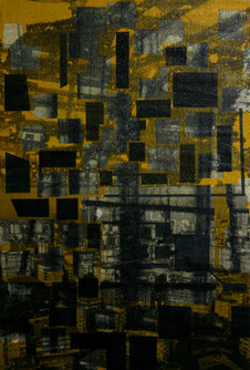 Untitled, 2012, Mixed media on canvas 26 x 15 cm