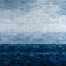 Blue ll, 2019, Mixed media on canvas 140 x 140 cm