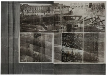 Untitled, 2015, Photo print and graffiti on paper 100 x 140 cm