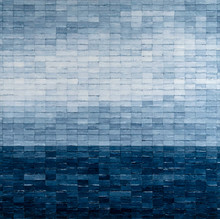 Blue lll, 2019, Mixed media on canvas 140 x 140 cm
