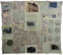 Untitled, 2012, Mixed media on canvas 165 x 185 cm