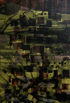 Untitled, 2012, Mixed media on canvas 38 x 58 cm