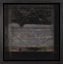 Sedad Hakki Eldem, 2018, Mixed media on canvas, 40 x 40 cm