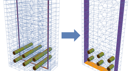 Multiscale modeling of reinforced concrete structures