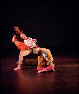 "Natalie Boegel, Adrienne Krause Latanishen, and Kristen Yeung in ""TMI, PS"" by Samantha Hopkins photo by Matt Roth"