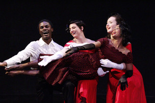 "Natalie Boegel, Diamonte Scoggins, Hannah Soares, and Chelsea Green in Bill Evan's ""Jukebox"" photo by Jon Moore"