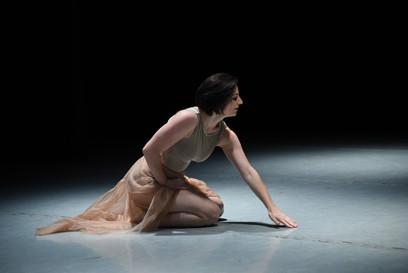 """Hannah Soares in Natalie Boegel's """"verguenza"""" photo by Ruth Judson"""