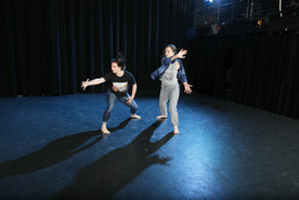 """Natalie Boegel and Hannah Soares in Adriane Fang's """"conflict/resolve"""" photo by Peter Yesley"""