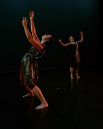 """Natalie Boegel and Caitlin McAfee in """"Apple Pie"""" by Caitlin McAfee and Sarah Joy Stallsmith photo by Kanji Takeno"""