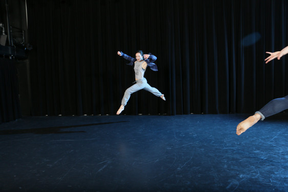 """Natalie Boegel in Adriane Fang's """"conflict/resolve"""" photo by Peter Yesley"""