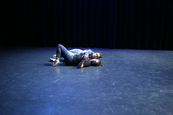"""Natalie Boegel and Hannah Soares in """"conflict/resolve"""" by Adriane Fang photo by Peter Yesley"""