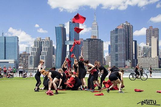 "Natalie Boegel and dancers in Joann Mendl Shaw's ""Madala INSITU"""