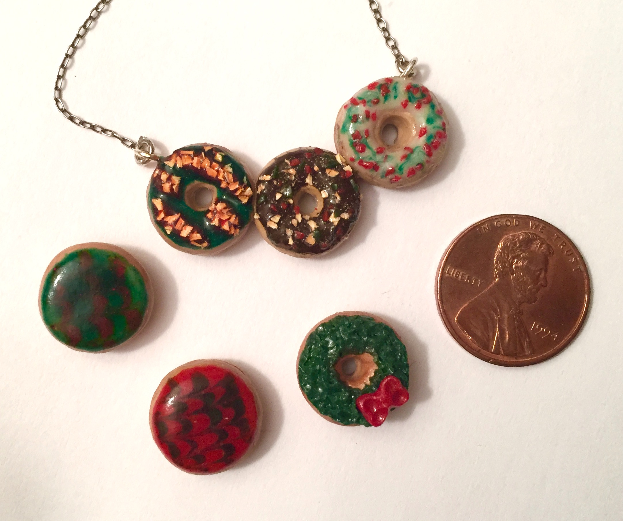 Holiday Donut Charms