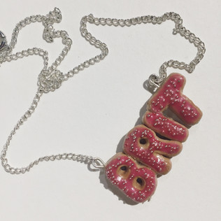 Donut Name Necklace