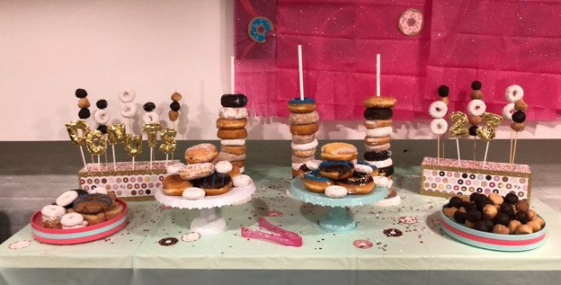 Handmade Donut Displays