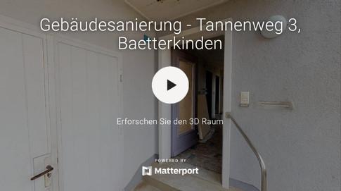 3D-Rundgang durch Brandschadenobjekt Bern