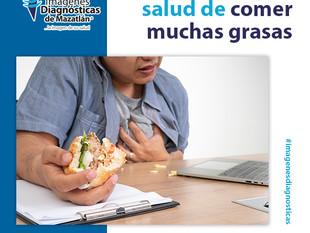 CONSECUENCIA A LA SALUD DE COMER MUCHAS GRASAS