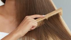 木製の髪のくし