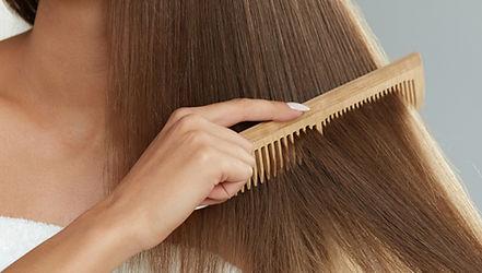Legno pettine dei capelli