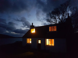 Cottage at night