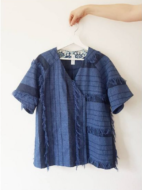 Kimono Cache-Coeur Bleu