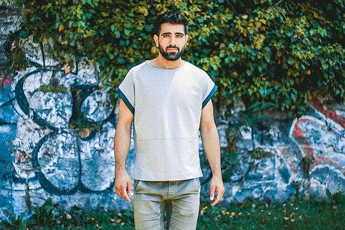 T-shirt Manches Bleues