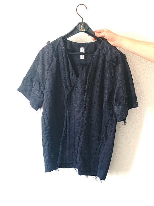 Kimono Cache-Coeur Anthracite