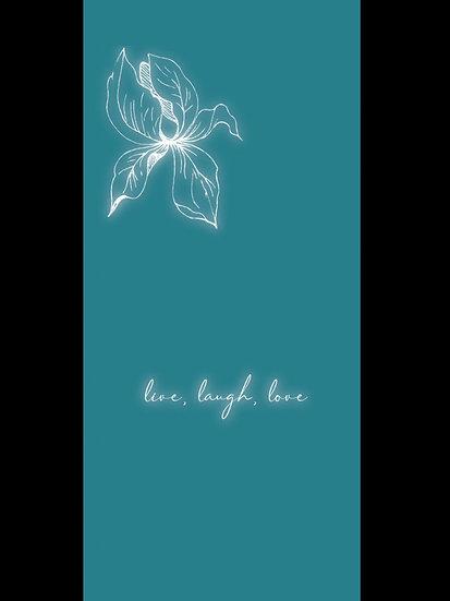 Live, Laugh, Love Floral Glow Wallpaper