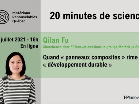 Réseau MRQ – 20 minutes de science avec Qilan Fu de chez FPInnovations!