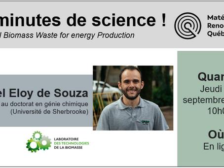 Réseau MRQ - 20 minutes de science avec Rafael Eloy De Souza (LTB)