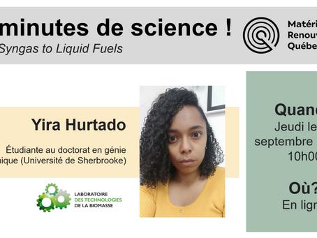 Réseau MRQ - 20 minutes de science avec Yira Hurtado (LTB)