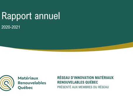 Le rapport d'activités 2020-2021 du réseau MRQ est maintenant disponible !