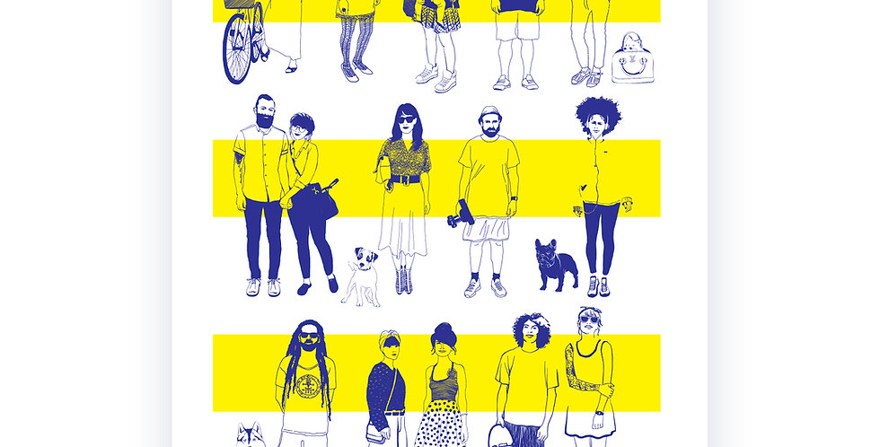 Faces of Tel-Aviv / high quality digital print /