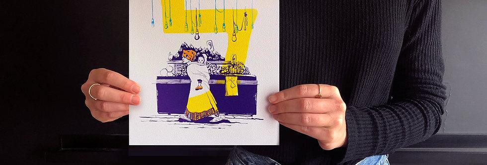 Lamed / high quality digital print /