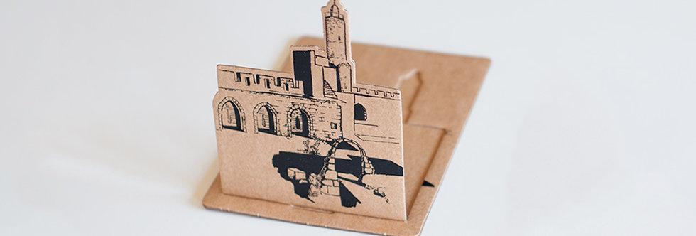 postcards israel souvenir david tower jerusalem old city