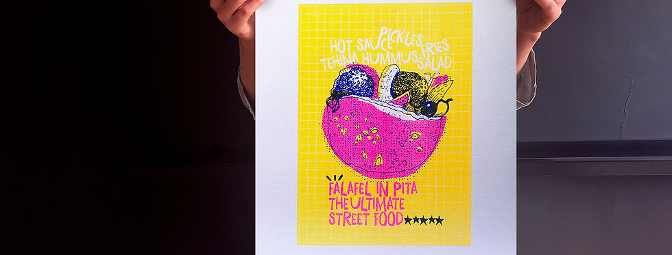 Ultimate Street Food / risograph print, A3 /