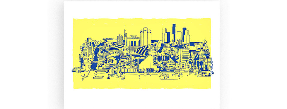 TLV skyline / high quality digital print /