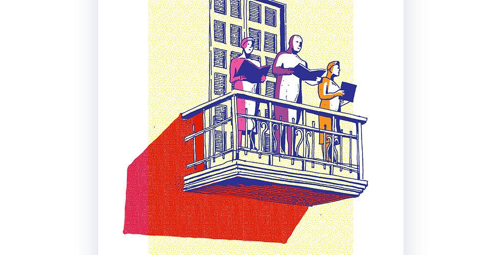 Rothschild's Balcony / high quality digital print /