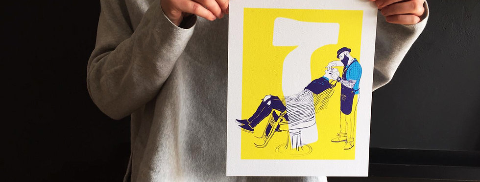 Zayin / high quality digital print /