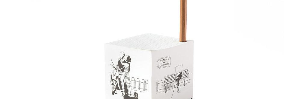 Paper Cube — Rothschild avenue in White