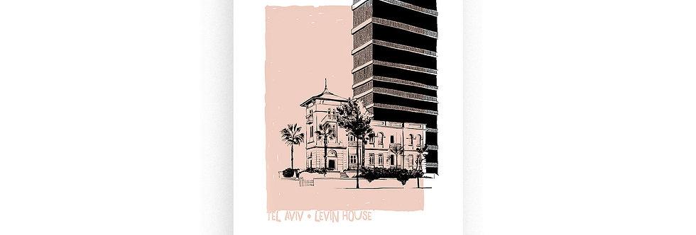 Levin House / risograph print, A4 /