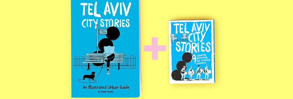 Tel Aviv City Stories & Tel Aviv 9 Postcards Set